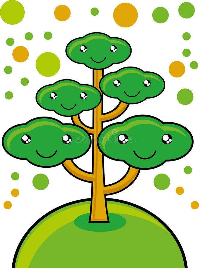 是绿色结构树 库存例证