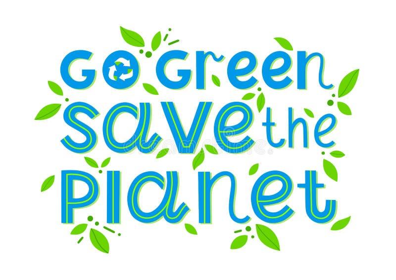 是绿色,保存行星-传染媒介字法 皇族释放例证