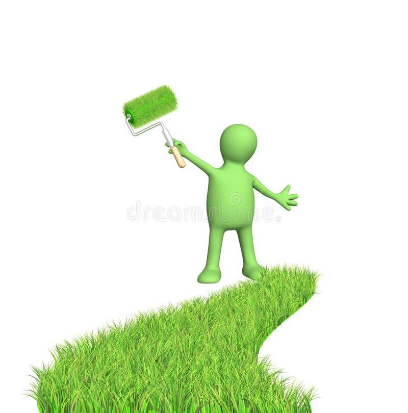 是绿色 库存例证