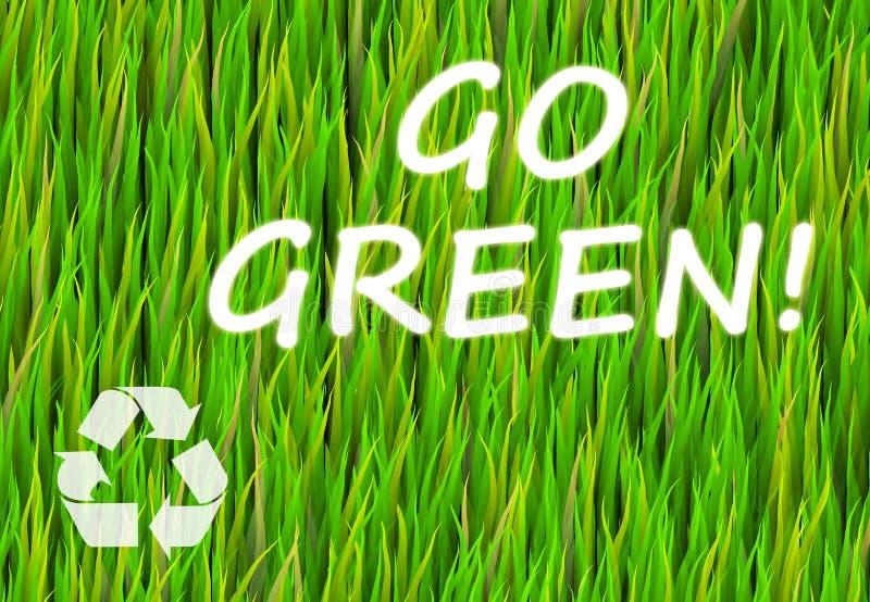 是绿色 向量例证