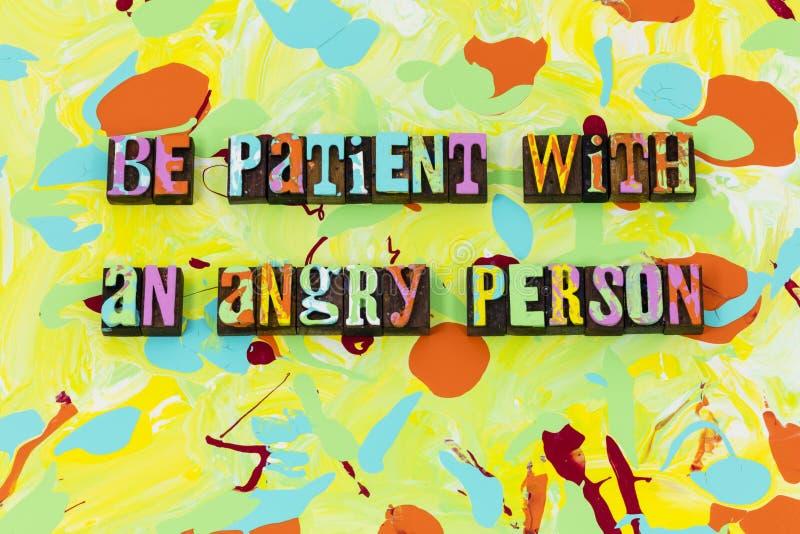 是耐心恼怒的人耐心美德诚实信任 向量例证