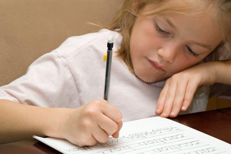 是能乐趣家庭作业 免版税库存图片