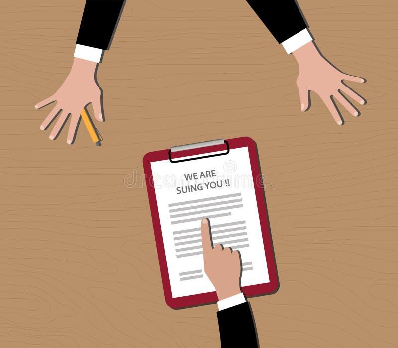 是起诉您人展示文件起诉顶面剪贴板的我们 向量例证
