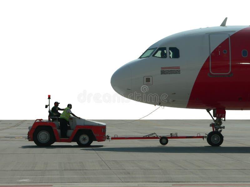 是门马来西亚被推进的飞机 免版税库存照片
