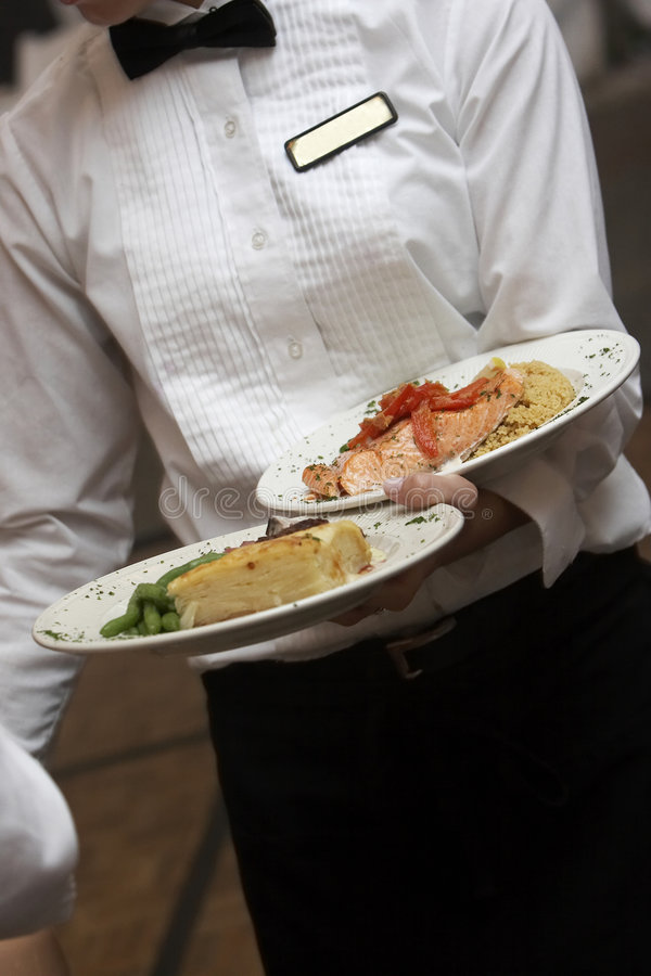 是食物服务的婚礼 库存图片