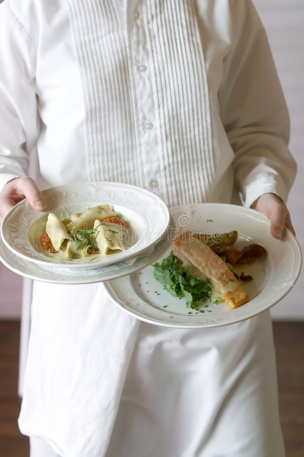 是食物服务的婚礼 图库摄影