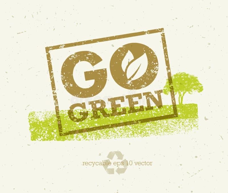 是绿色回收减少再用Eco海报概念 在概略的背景的传染媒介创造性的有机例证 向量例证