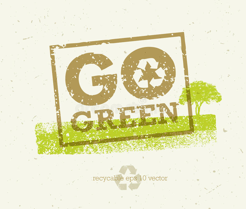是绿色回收减少再用Eco海报概念 在概略的背景的传染媒介创造性的有机例证 皇族释放例证