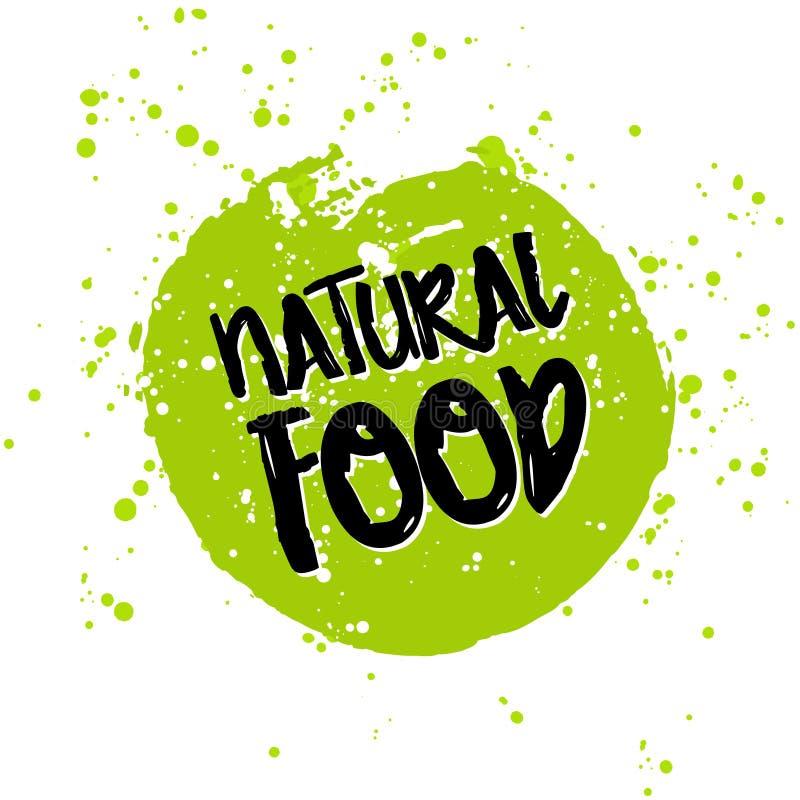 是绿色Eco象和生物标志在水彩污点 向量例证