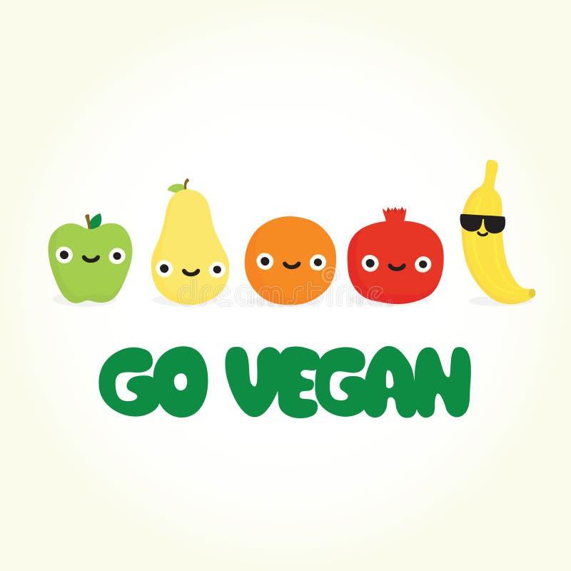 是素食主义者动画片果子 皇族释放例证