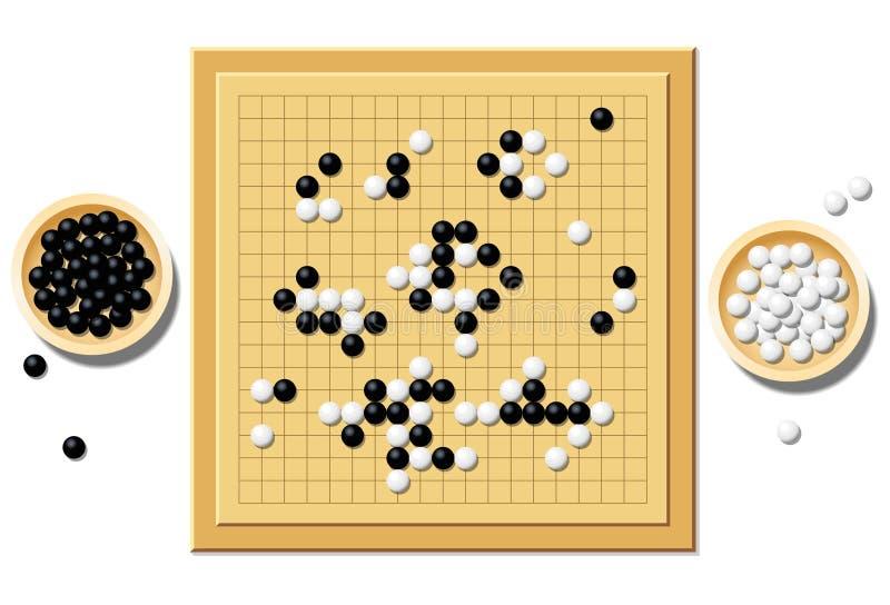 是Gobang比赛戏剧板中国战术比赛 库存例证