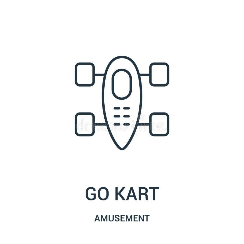 是kart从娱乐汇集的象传染媒介 稀薄的线去kart概述象传染媒介例证 库存例证