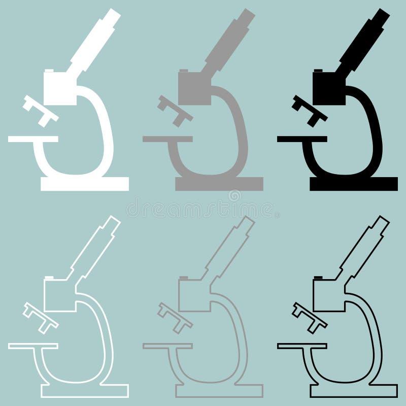 显微镜白色灰色黑象 皇族释放例证