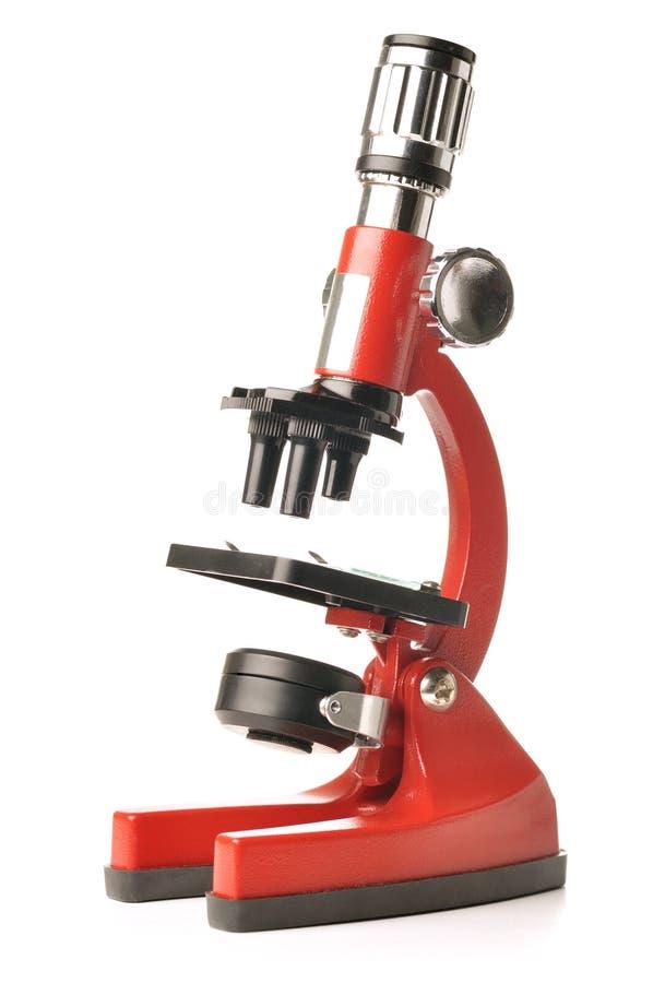 显微镜红色 库存图片