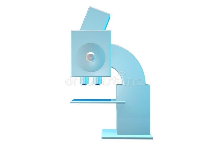 显微镜被隔绝的侧视图 库存例证