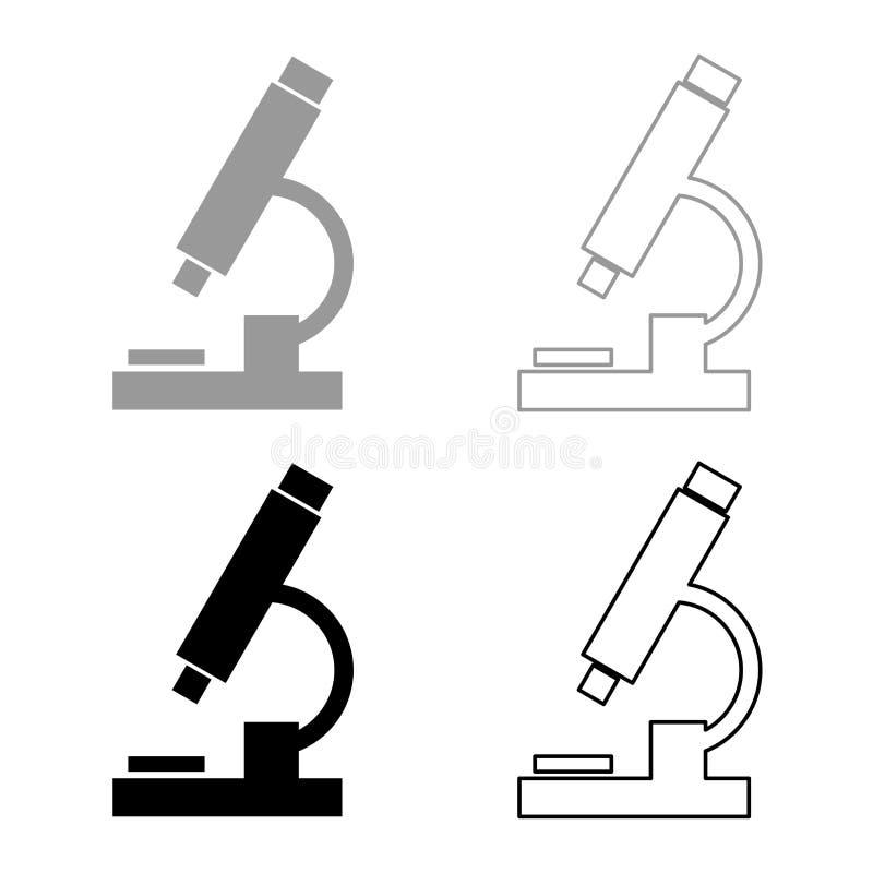 显微镜象集合灰色黑颜色 皇族释放例证