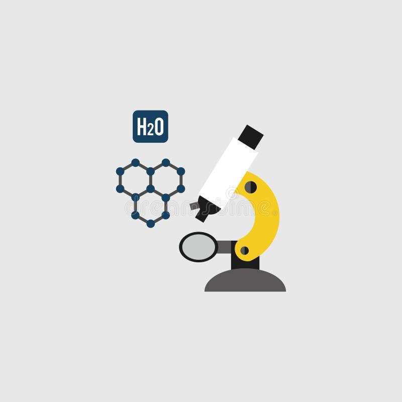 显微镜象,传染媒介例证 科学 实验室 10 eps 库存例证