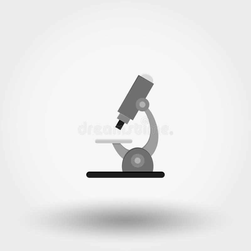 显微镜 图标 向量 平面 向量例证