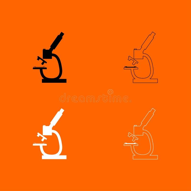 显微镜黑白集合象 皇族释放例证
