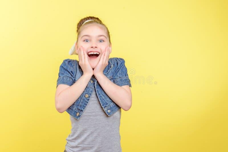 显示不同的情感的小女孩 图库摄影