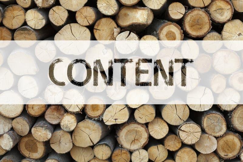 显示事务的概念性公告文本说明启发美满的企业概念对在木backgr写的成功 免版税图库摄影