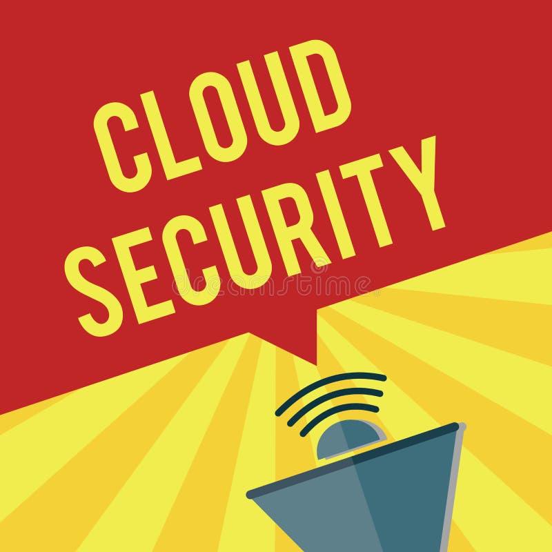 显示云彩安全的文字笔记 企业照片陈列保护被存放的信息安全受控技术 库存例证