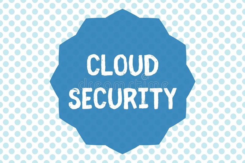 显示云彩安全的文字笔记 企业照片陈列保护被存放的信息安全受控技术 皇族释放例证