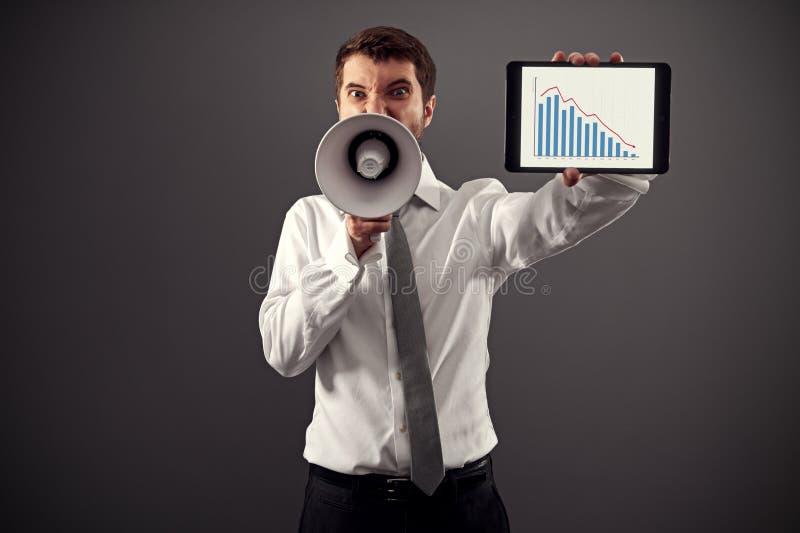 显示企业图表的人 库存图片
