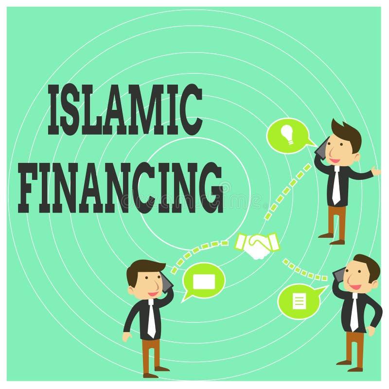 显示伊斯兰教的财务的概念性手文字 企业照片文本依从的银行业务活动和投资 皇族释放例证