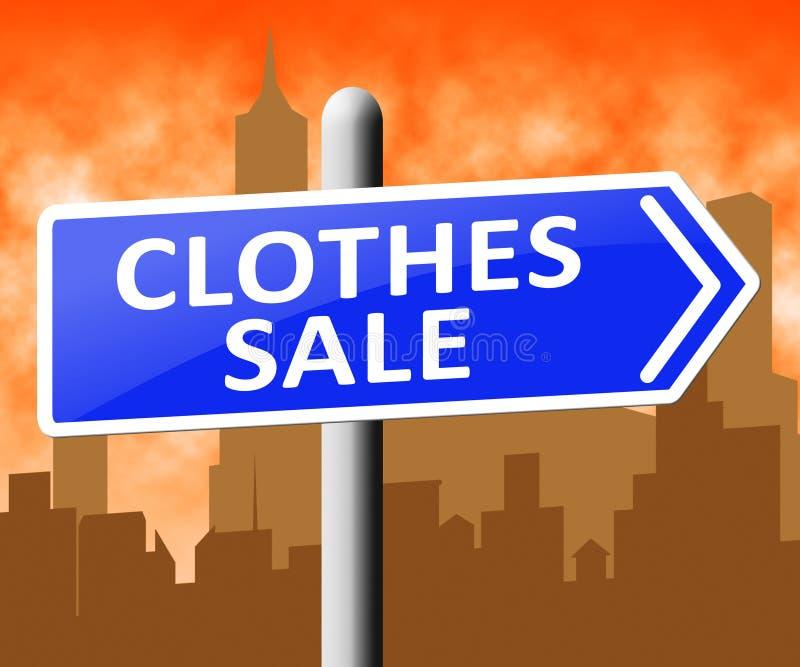 显示便宜的时尚3d例证的衣裳销售 向量例证