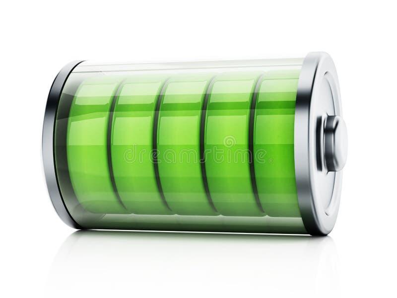 显示充分的电池水平的例证 3d例证 向量例证