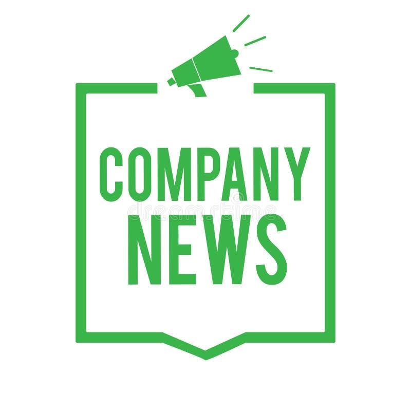显示公司新闻的文字笔记 企业照片陈列的最新的信息和发生在企业法人报告Megap 库存例证