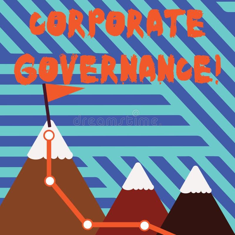 显示公司管理方法的概念性手文字 企业是过程的企业照片陈列的系统  皇族释放例证