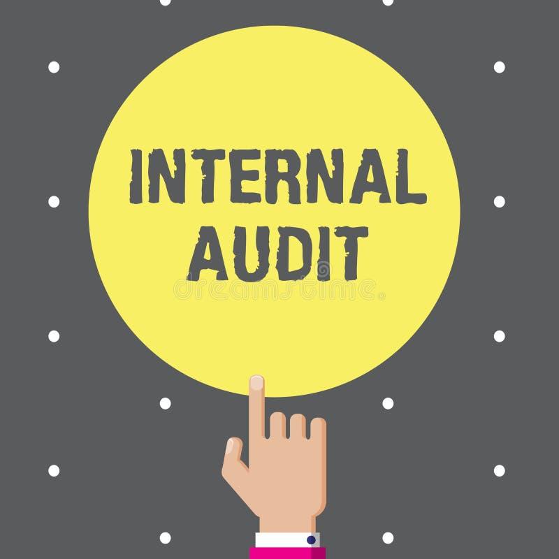 显示内部审计的概念性手文字 企业照片文本评估控制和过程的有效率 向量例证