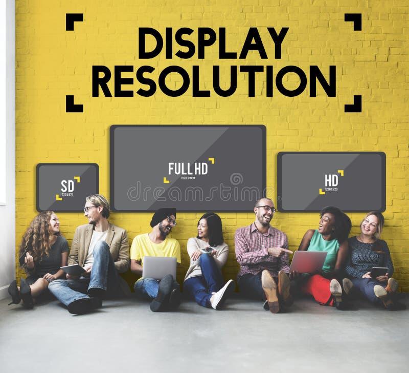 显示决议屏幕现代技术概念 图库摄影