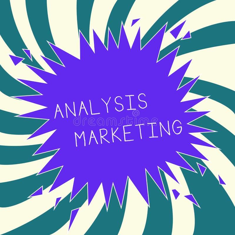 显示分析行销的概念性手文字 对a的企业照片文本定量和定性评估 向量例证