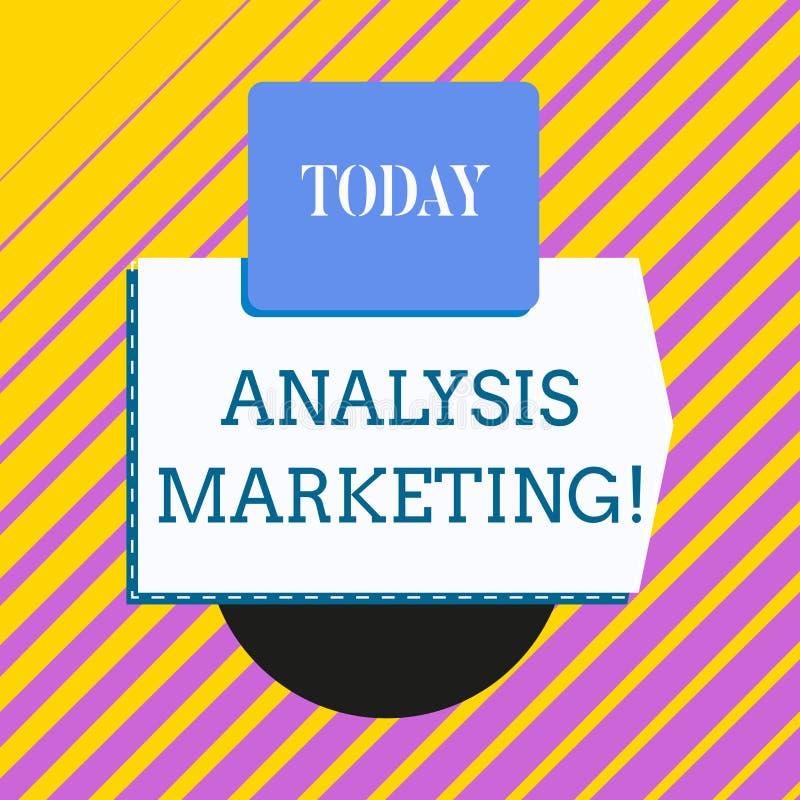 显示分析行销的概念性手文字 陈列定量和定性评估的企业照片 库存例证