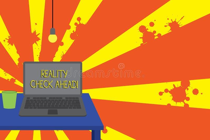 显示前面事实审视的概念性手文字 企业照片文本做他们认可关于情况的真相或 向量例证