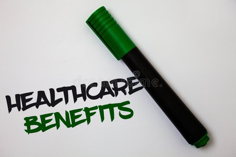 显示医疗保健好处的概念性手文字 企业照片文本它是包括医疗费用白色ba的保险 皇族释放例证