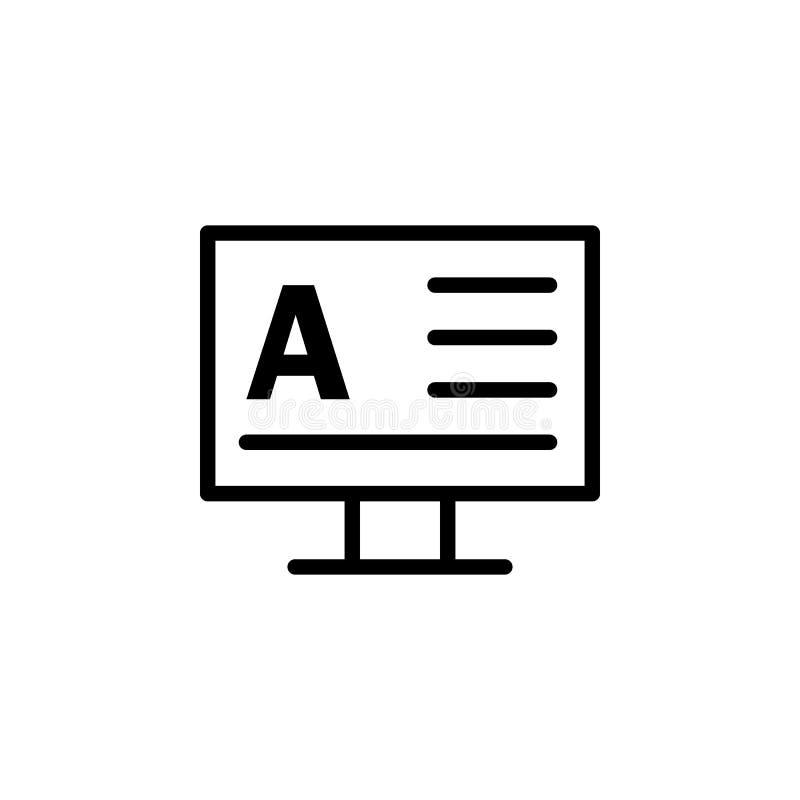 显示器,词A象 能为网,商标,流动应用程序,UI,UX使用 向量例证