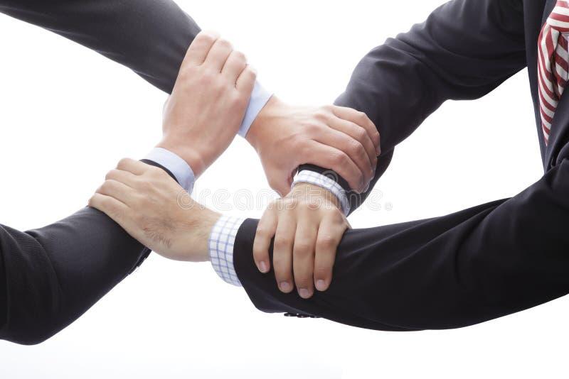 显示团结的人的手 免版税库存图片