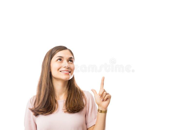 显示在白色背景的妇女空白 免版税库存照片