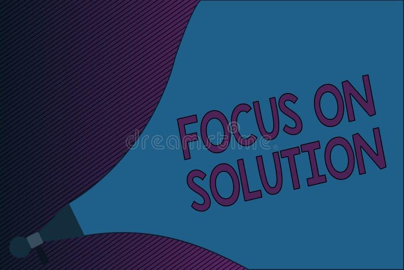 显示在解答的文本标志焦点 概念性照片给予在成交情况的答复的充分的关注 向量例证