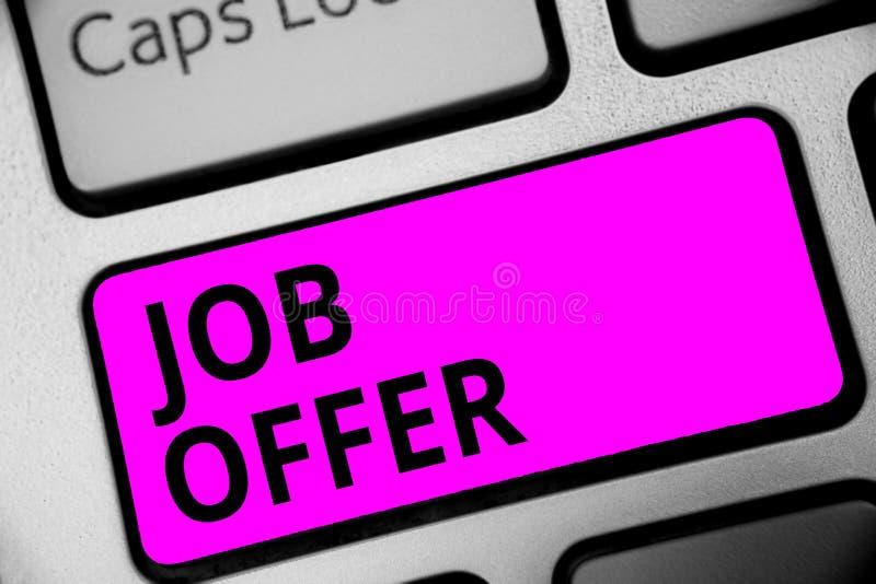 显示工作的文字笔记 陈列给你的就业键盘的opurtunity的A peron或公司的企业照片 免版税库存照片