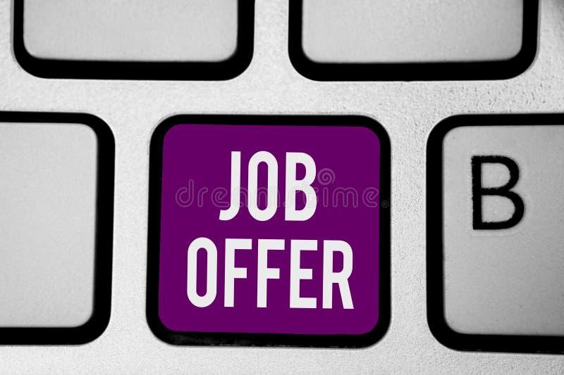 显示工作的文字笔记 陈列给你的就业键盘的opurtunity的A peron或公司的企业照片 免版税库存图片