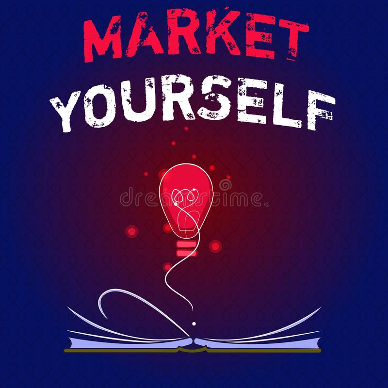 显示市场的文字笔记 陈列企业的照片做为任何任务和项目在生活中 库存例证