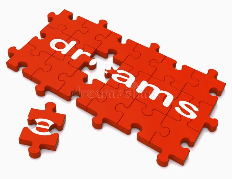 显示希望和欲望的梦想标志 库存例证