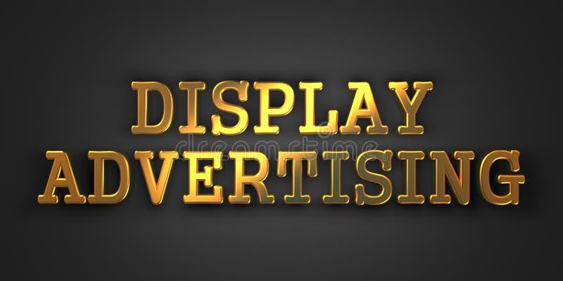 显示广告。营销概念。 皇族释放例证
