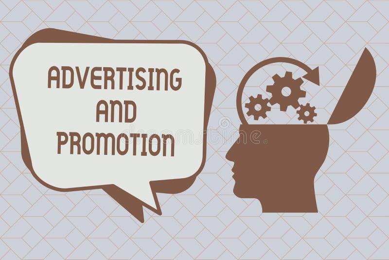 显示广告和促进的文本标志 概念性在媒介的照片受控制和被支付的销售的活动 皇族释放例证
