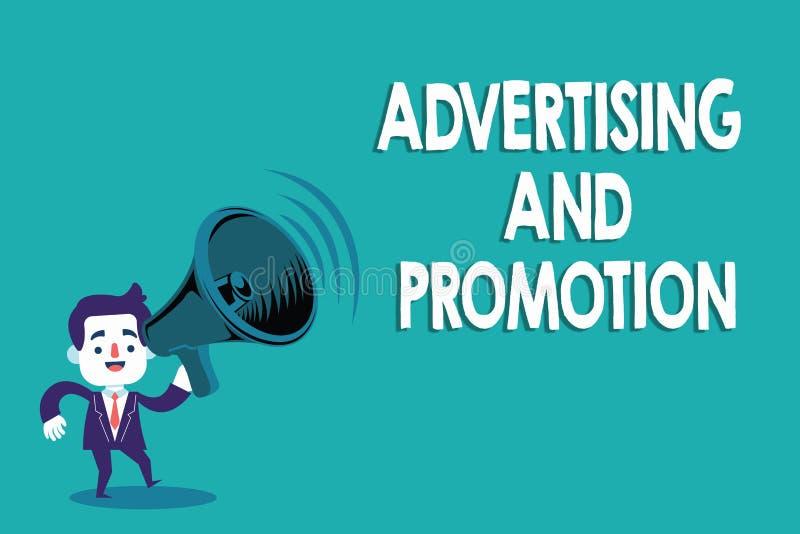 显示广告和促进的概念性手文字 企业照片文本受控制和被支付的销售的活动  向量例证